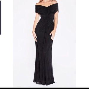 PLUS size back off the shoulder dress